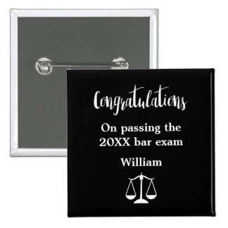 Bar Exam Graduation Button Pins