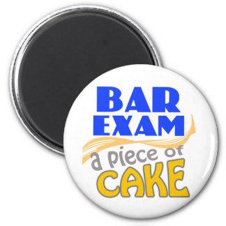 Bar Exam - Piece of Cake 6 Cm Round Magnet