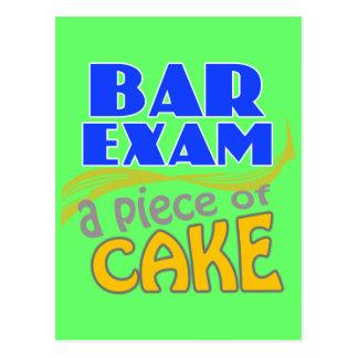 Bar Exam - Piece of Cake Postcard
