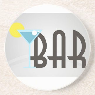 Bar Graphic Drink Coasters