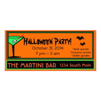 Bar Halloween Party Personalized Rack Card
