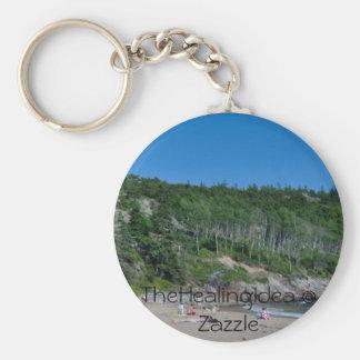 Bar Harbor - Beach - 8 Basic Round Button Key Ring