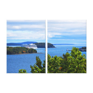 Bar Harbor Diptych Canvas Print