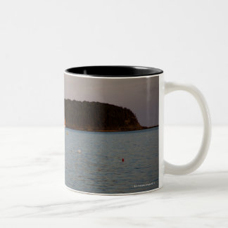 Bar Harbor, Maine at sunset Two-Tone Coffee Mug