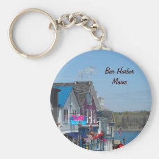 Bar Harbor, Maine Basic Round Button Key Ring