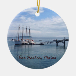 Bar Harbor, Maine Ceramic Ornament