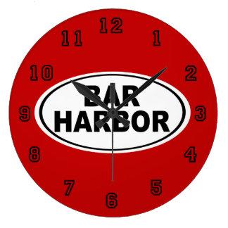 Bar Harbor Maine Large Clock