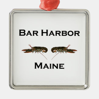 Bar Harbor Maine Metal Ornament