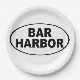Bar Harbor Maine Paper Plate