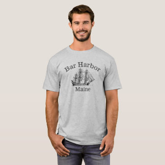 Bar Harbor Maine Tall Ship Shirt