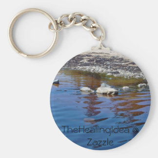Bar Harbor - Rock Basic Round Button Key Ring