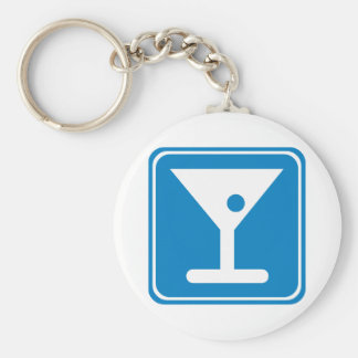 Bar Highway Sign Key Chain