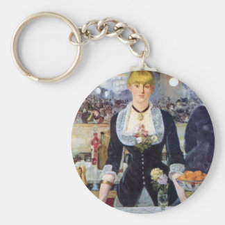 Bar in the Folies-Bergere by Edouard Manet Key Chains