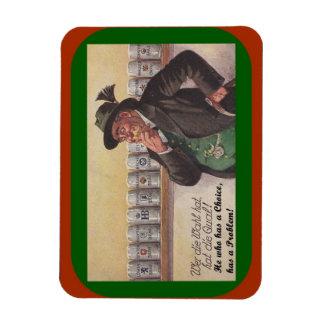 Bar Magnet Antique German Proverb Beer Choice