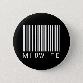 BAR MIDWIFE DARK 6 CM ROUND BADGE
