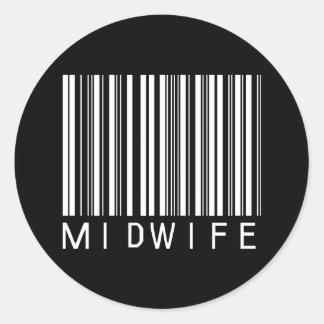 BAR MIDWIFE DARK CLASSIC ROUND STICKER