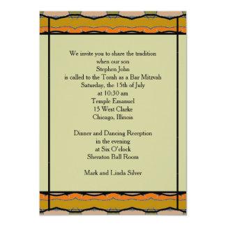 Bar Mitzvah 11 Cm X 16 Cm Invitation Card
