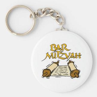 Bar Mitzvah Basic Round Button Key Ring