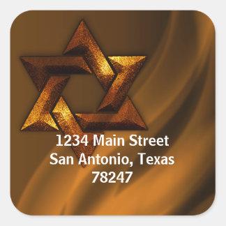 Bar Mitzvah Copper Eternal Star of David Sticker