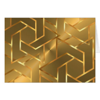 Bar Mitzvah Gold Star of David on Any Color Card