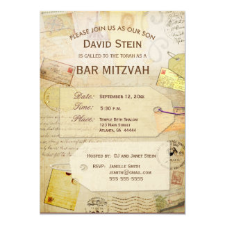 Bar Mitzvah Invitation with a travel theme