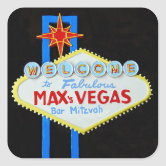 Bar Mitzvah Las Vegas personalized Max Square Sticker
