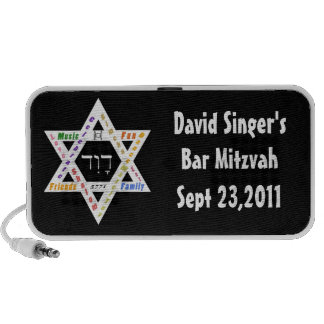 Bar Mitzvah Momento Notebook Speakers