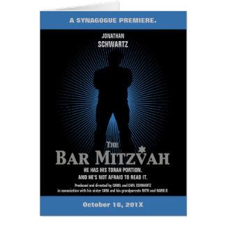 Bar Mitzvah Movie Star Folded Invitation Greeting Card