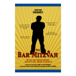Bar Mitzvah Movie Star Poster