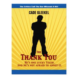 Bar Mitzvah Movie Star Thank You Card Cade Invites