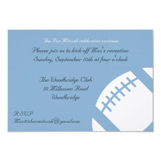 Bar Mitzvah Reception Card - Football