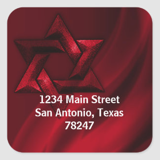 Bar Mitzvah Red Eternal Star of David Stickers