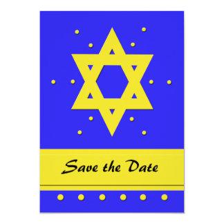 Bar Mitzvah Save the Date Invitation Card