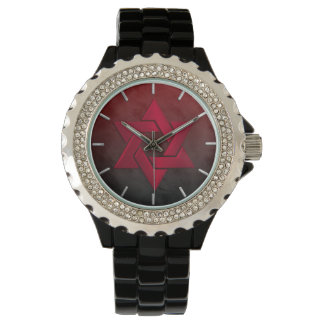 Bar Mitzvah Stylish Red Star of David Ombre Wrist Watches