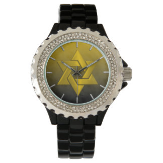 Bar Mitzvah Stylish Yellow Star of David Ombre Watches