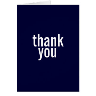 Bar Mitzvah Thank You Cards {Dark Blue}