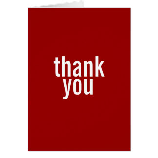 Bar Mitzvah Thank You Cards {Red}