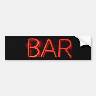 Bar Neon Sign Bumper Sticker