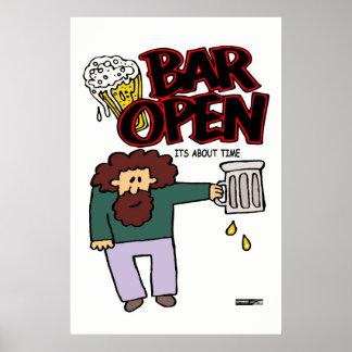 Bar open poster