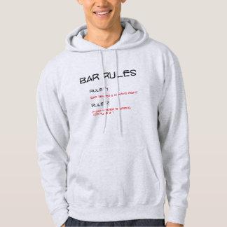 Bar rules Bar tender is always right funny hoodie
