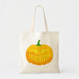 Bar Teeth Jack-O-'Lantern Budget Tote Bag