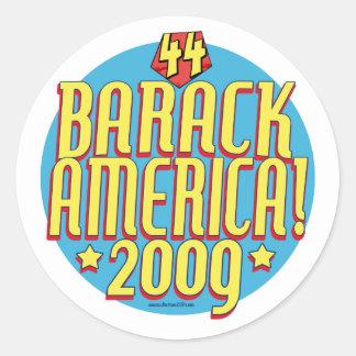 Barack America 2009 Political Super Hero Gear Stickers