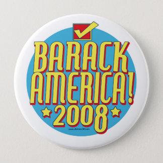 Barack America text 10 Cm Round Badge
