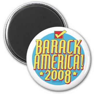 Barack America text 6 Cm Round Magnet
