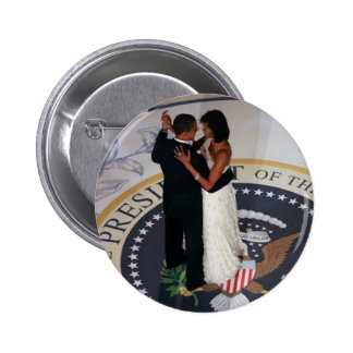 Barack and Michelle Obama dancing Inaugural Ball 6 Cm Round Badge