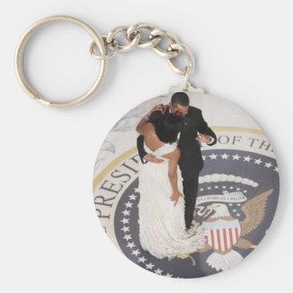 Barack and Michelle Obama Key Ring