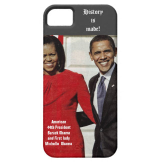 BARACK AND MICHELLE OBAMA MAKE HISTORY case iPhone 5 Covers