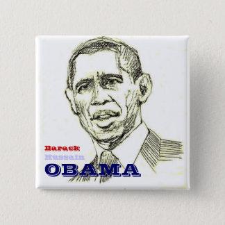 Barack Hussain Obama Square Button