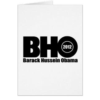 Barack Hussein Obama 2012 for president Card