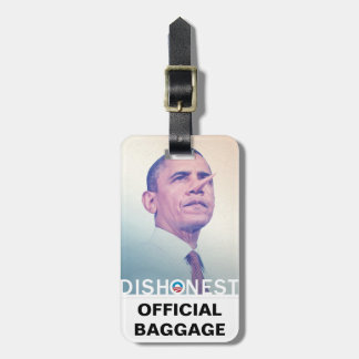 Barack Hussein Obama Dishonest Pinocchio Official Travel Bag Tags